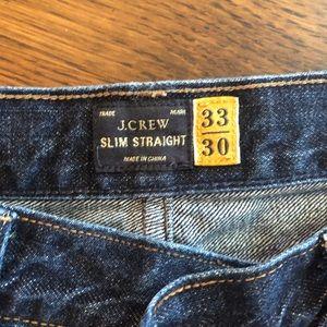 J. Crew Slim Straight Jeans, 33 x 30